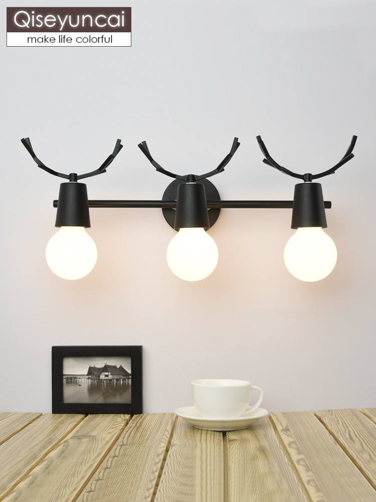 Led Indoor Wall Lamps Qiseyuncai 2019 New Nordic Led Creative Antler Wall Lamp Bathroom Bathroom Mirror Cabinet Dressing Table Dressing Lighting Vivid And Great In Style