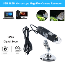 High Quality New 1600X 2MP Zoom Microscope 8 LED USB Digital Handheld Magnifier Endoscope Camera цены