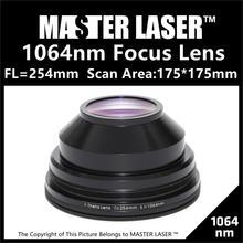 ФЛОРИДА: 254 мм Area175 Сканирования * 175 YAG Полупроводниковых Волокна Galvo F-theta, Система Линз Сканирования для Лазерной маркировки Машины Объектив Сканирования