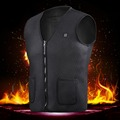 Fishing Jacket For Men Outdoor Riding Skiing Fishing USB Charging Electric Heated Detachable Floatation Cushion Fishing Vest