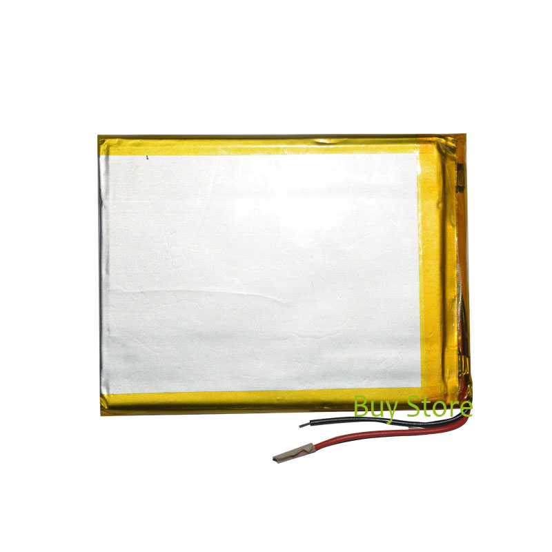 3500mAh 3.7V polymer lithium ion Battery 2 Wire Replacement Tablet Battery for Digma Plane <font><b>7580S</b></font> 4G 7 inch Tablet PC image