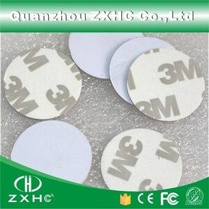 Image 2 - (10 stücke) RFID 125 KHz 25mm T5577 Aufkleber Wiederbeschreibbare Klebstoff Münze Karten Tag Für Kopie Runde Form PVC Material