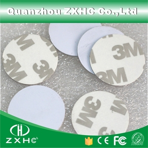 Image 2 - (10pcs) RFID 125KHz 25mm T5577 Sticker Rewritable Adhesive Coin Cards Tag For Copy Round Shape PVC Material
