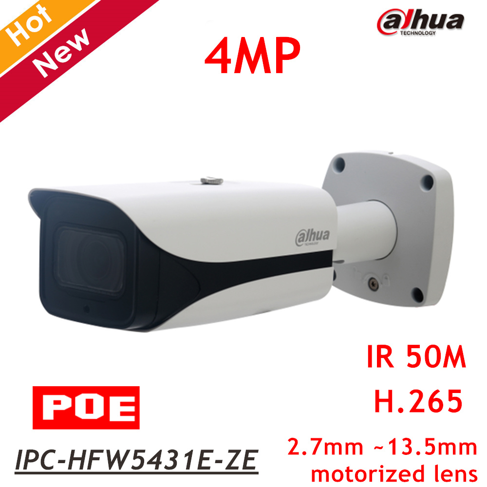 21a97ea4a27e 2018 New Dahua 4MP POE IP Camera IPC-HFW5431E-ZE 2.7mm ~13.5