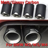 Carbon Fiber Exhaut Tips For BMW M2 M3 M4 M5 M6 Mufflers Matte Glossy 4pcs Set