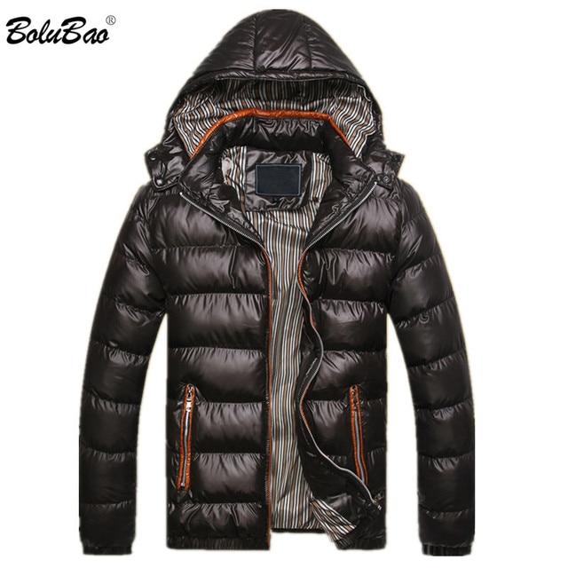 d571efaff6 BOLUBAO 2018 nuevo invierno de los hombres de moda chaqueta térmica de  algodón Parkas hombre chaquetas