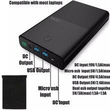 Vinsic Тетрадь Запасные Аккумуляторы для телефонов 30000 мАч 30000 мАч Мощность банка для ноутбука рабочего Lenovo ASUS Xiaomi iPad 2 Порты 2.4A DC 19 В 3.5A