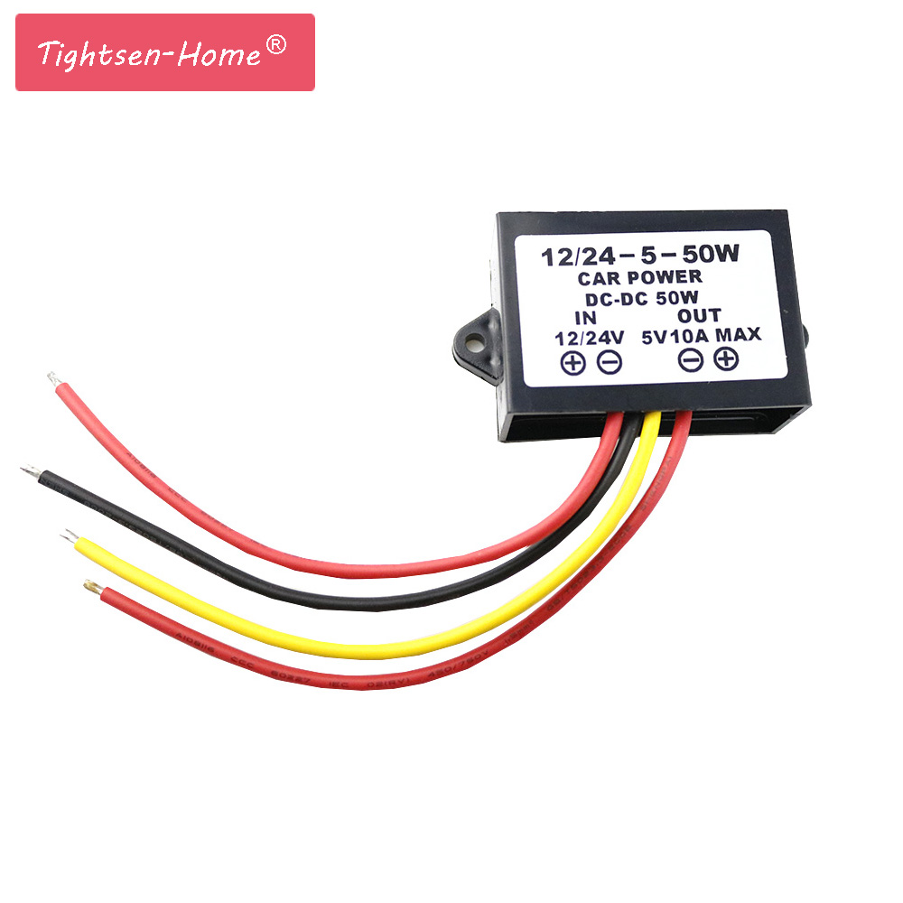 цена на 5v 50w Car Power Auto DC-DC Converter Step-Down Buck Module dc12V/24V to dc 5V 10A 50W Professional Car Power driver Inverter