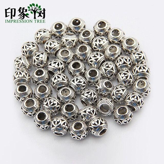 10 pçs/lote Dia 11mm Atacado prata antiga escultura amor forma grande buraco oco liga bead para jóias fazendo entregas 704