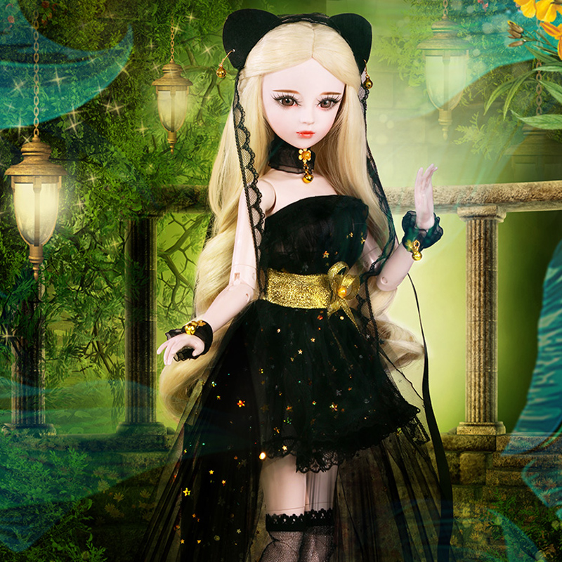 60CM Bjd 1 3 Princess Dolls with Wig Clothes Shoes Handmade Large 23 Ball Jointed Doll