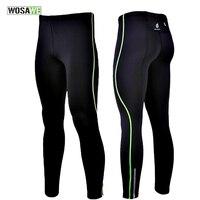 WOSAWE Mens Compresión Pantalón Apretado Pieles de la Capa Base En Funcionamiento Corren Gimnasio Ejercicio Ropa de Ciclo de la Bicicleta Bike Gear Pantalones