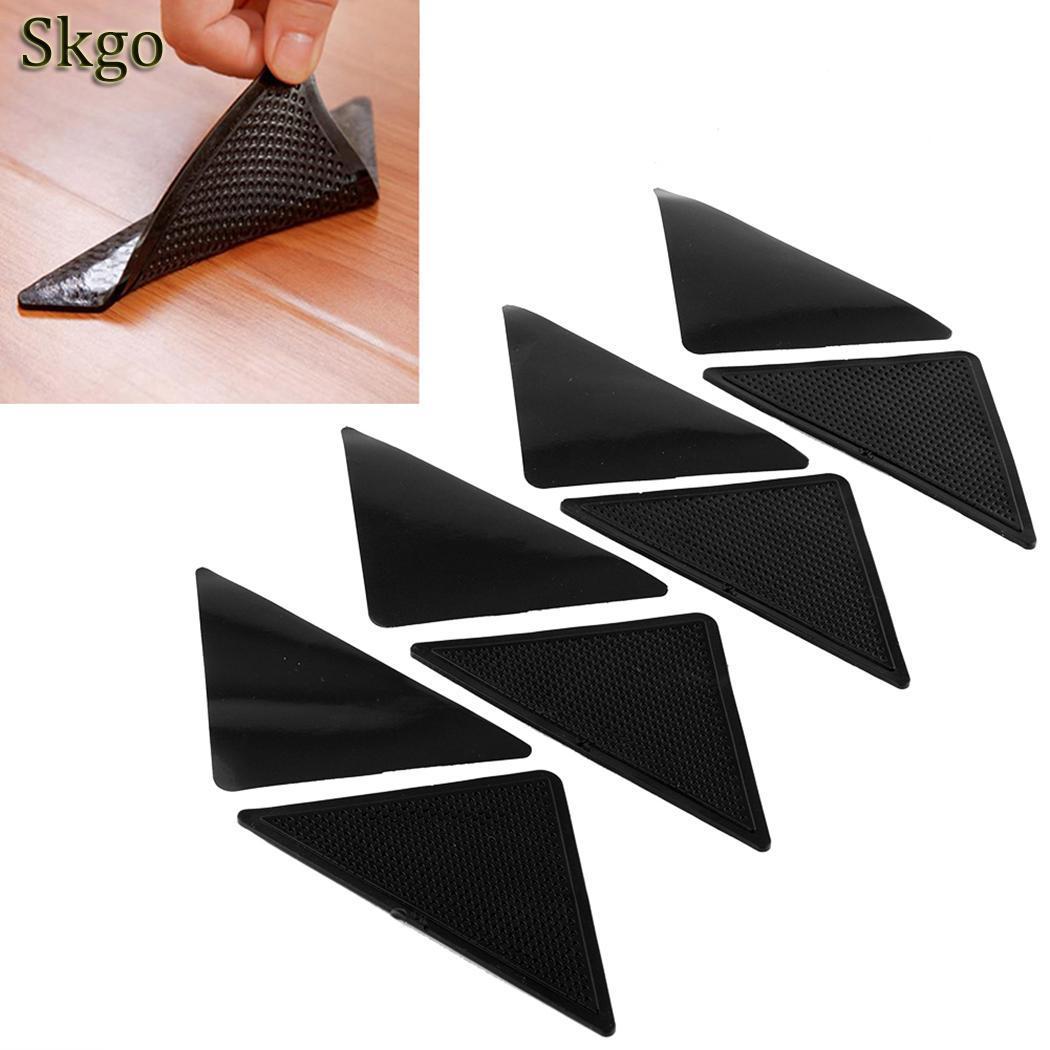 Room Pads Living Triangular Anti-skid Mat Carpet 70g Black Non-slip Bath Fixed Triangle