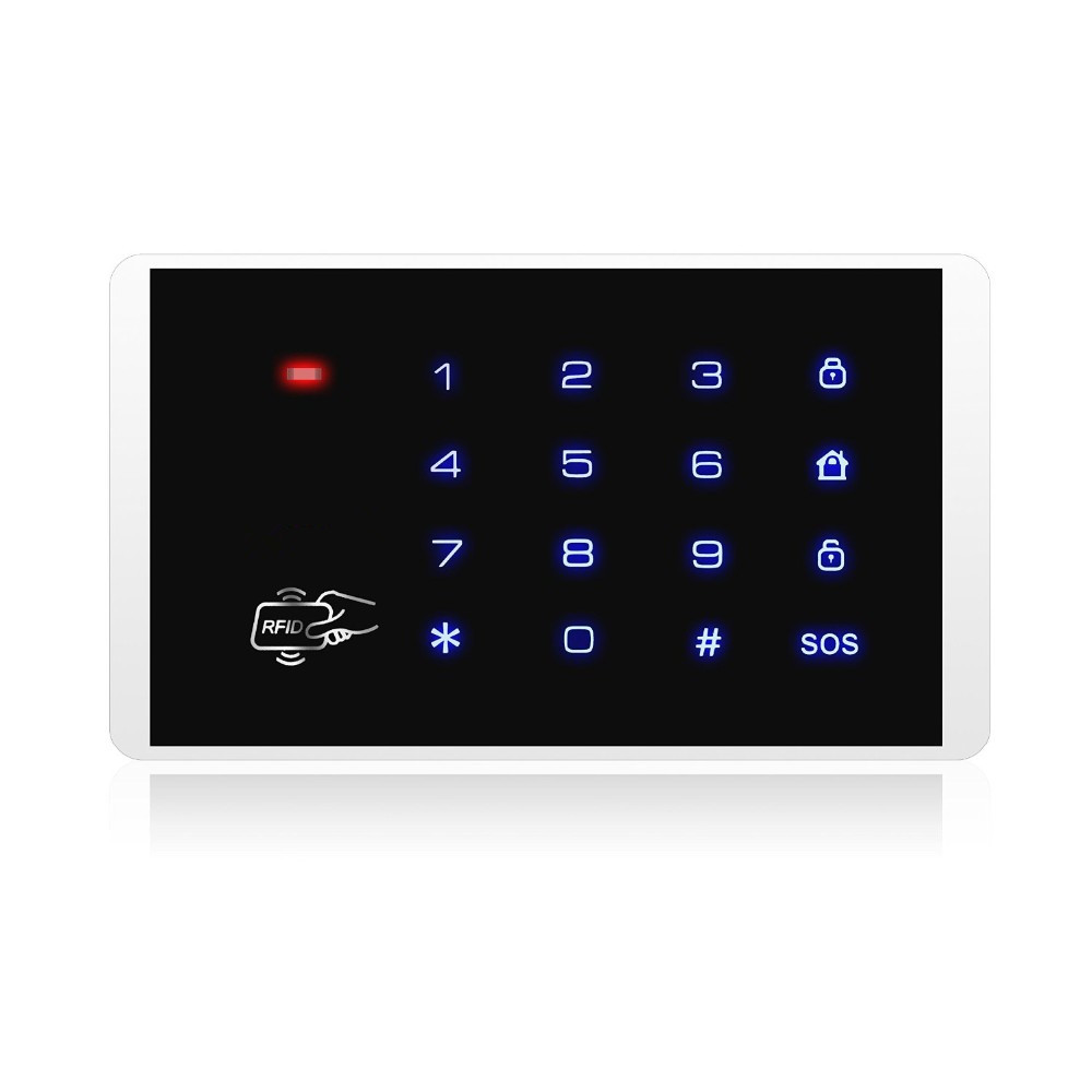TRINIDAD WOLF K16 RFID Touch keypad new product with RFID Card Compatible with KERUI 8218G G19 G18 alarm system new lone wolf and cub v 7