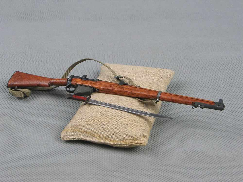 1/6 scale soldier story WWII British army Lee Enfield rifle metal gun  weapon model toys fit for 12