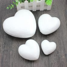 Polystyrene Styrofoam Foam Ball White Craft Heart-shaped For DIY Christmas Party Decoration Supplies Gifts(China)