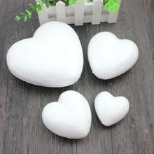 Styropianowe kulki z pianki piłka biały Craft w kształcie serca dla DIY Christmas Party materiały dekoracyjne prezenty tanie tanio A386 1 szt