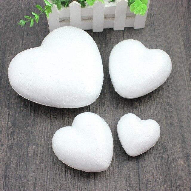Styropianowe kulki z pianki piłka biały Craft w kształcie serca dla DIY Christmas Party materiały dekoracyjne prezenty