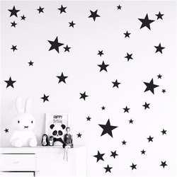 Новый 45/24 шт мультфильм Звездное стены стикеры для детей номеров домашнего декора маленькие настенные наклейки со звездами Детские сделай