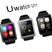 Uwatch U11 Smartwatch Bluetooth4.0 64 Mt + 128 Mt uhr unterstützung SIM karte Schrittzähler Stoppuhr für Android und IOS handgelenk uhr männer frauen