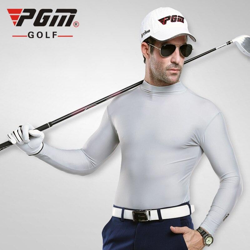PGM Golf Shirt For Men Ice Cool Quick Dry Sports Shirts Sunshineproof Long Sleeve Golf Shirt Professional Golf Training Clothing