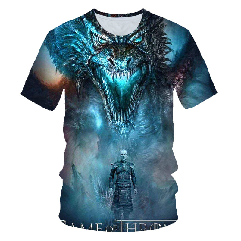 Game Of Thrones   t     Shirt   Movie Figure   T  -  Shirt   Men 2019 New Tshirt Night King Tshirt Casual Harajuku Tops Summer Fashion Tees