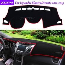 For Hyundai Elantra Avante 2012-2015 Dashboard Mat Protective Interior Photophobism Pad Shade Cushion Car Styling Accessories