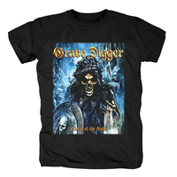 Bloodhoof Ballads Of A Hangman Grave Digger cover men'sblack heavy metal cotton T Shirt Asian Size