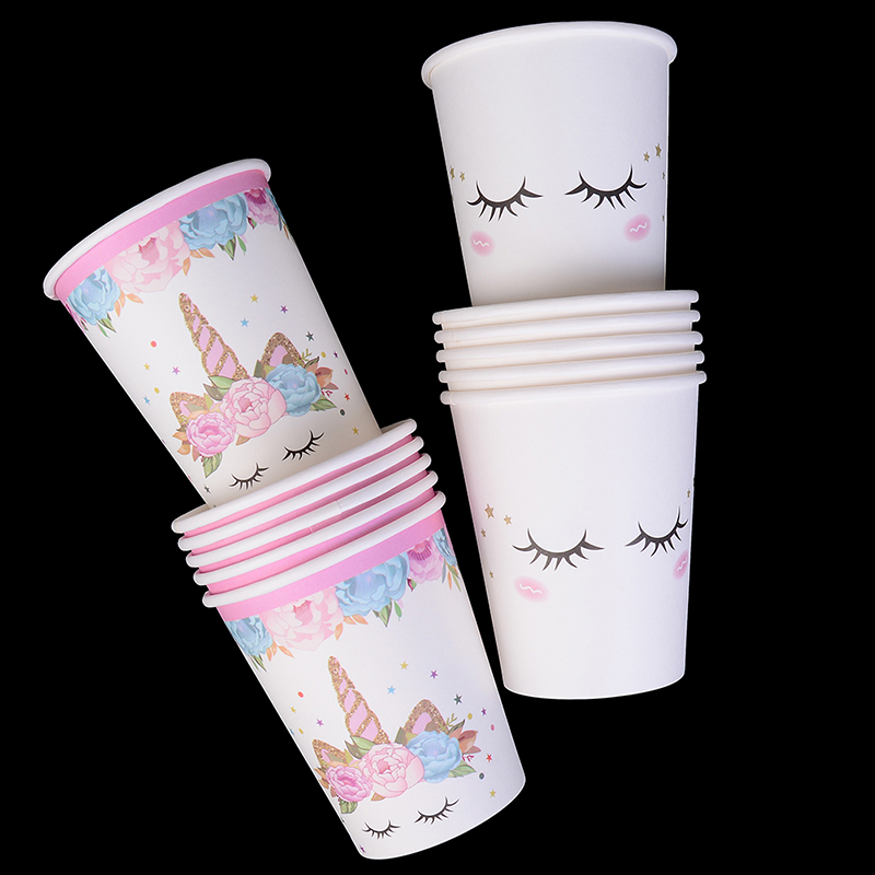 <font><b>Unicorn</b></font> Party Kits 1st Birthday <font><b>Unicorn</b></font> Headband Paper Cups/Plates/Napkin Party <font><b>Decor</b></font> Supplies image