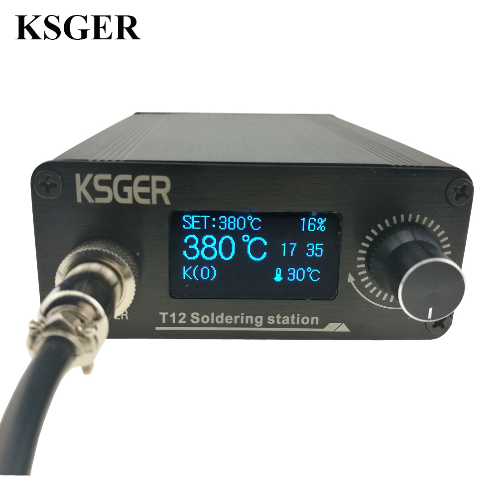 KSGER STM32 2.1S OLED DIY T12 Soldering Iron Station FX9501 Alloy Handle Electric Tools Temperature Controller Holder Welding door wireless with monitor