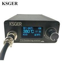 KSGER STM32 2,1 S OLED DIY T12 Estación de soldadura de hierro FX9501 mango de aleación herramientas eléctricas controlador de temperatura soporte soldadura