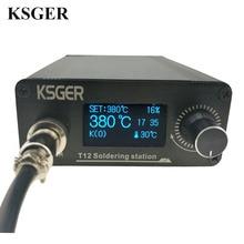 KSGER STM32 2.1S OLED DIY T12 납땜 인두 역 FX9501 합금 손잡이 전기 공구 온도 조절기 홀더 용접