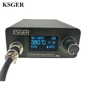 Image 1 - KSGER STM32 2.1S OLED DIY T12 はんだごてステーション FX9501 合金ハンドル電動工具温度コントローラホルダー溶接