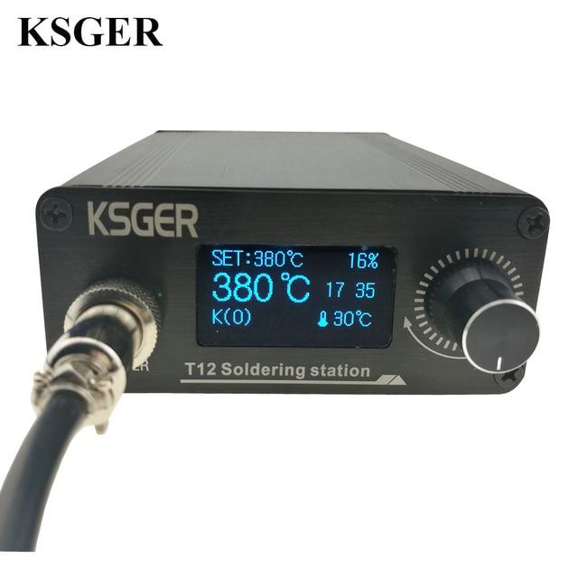 KSGER STM32 2.1S OLED DIY T12 はんだごてステーション FX9501 合金ハンドル電動工具温度コントローラホルダー溶接