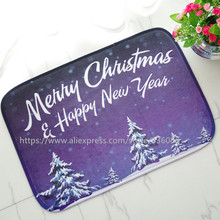 Front door mat bathroom mat/ soft warm strong water absorption The Christmas series C carpet with anti-slip back