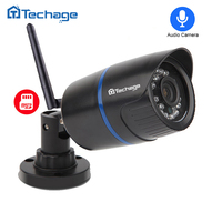 Techage 720P Wireless Wired IP Camera HD 1 0MP Waterproof P2P ONVIF WIFI Camera Motion Detect