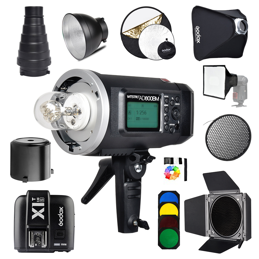 Godox AD600BM Bowens Mount 600Ws GN87 1/8000 HSS Outdoor Flash Strobe Monolight with X1T-S Wireless Trigger for Sony+Gift kit godox ad360 camera outdoor shooting flash kit ad 360 360w flash ft 16 wireless trigger ad s17 diffuser 60 60cm softbox