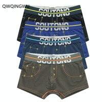 4PCS/Lot Sexy Boxers Cotton Men Underwear Comfortable Long Leg Short Leg Men's Boxers Shorts Male Underpants Man Underwear