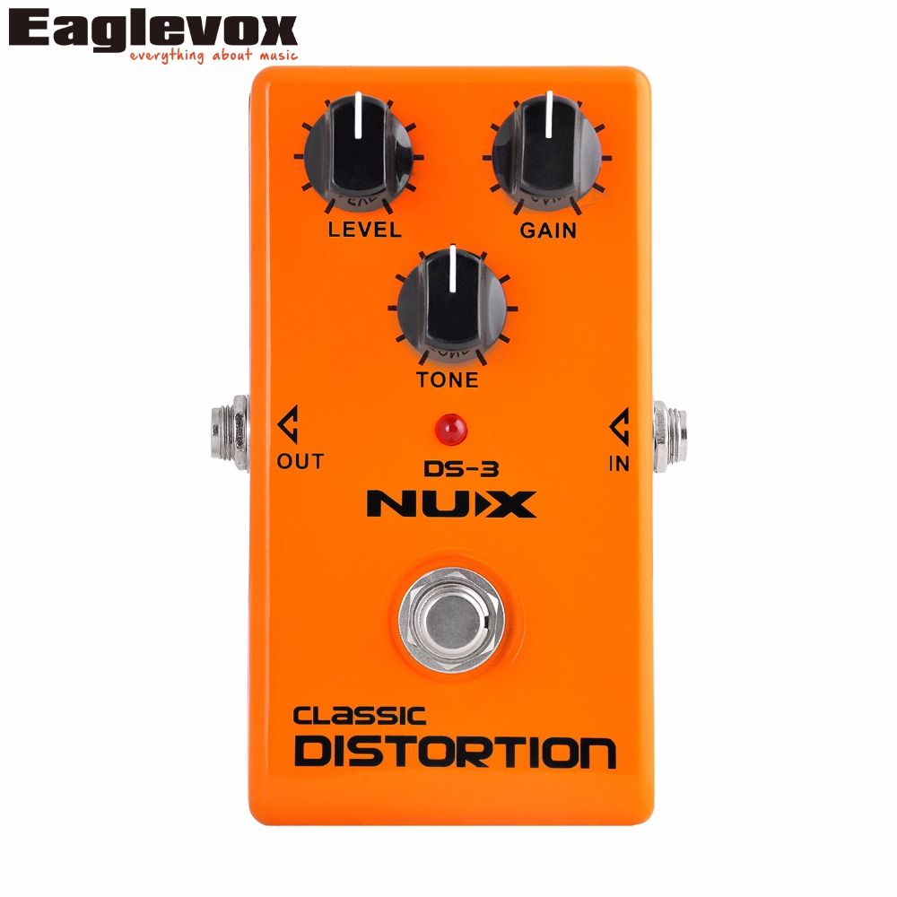 NUX DS-3 Classic Distortion Guitar Effect Pedal Analog Effects Stomp Boxes True Bypass mooer ensemble queen bass chorus effect pedal mini guitar effects true bypass with free connector and footswitch topper