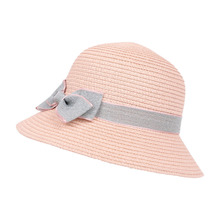 ad1c27acdec05 Baby Bow Travel Bohemian Pink Hat Summer Cotton Bucket Hat For Kids Outdoor  Cap Sombrero Sun