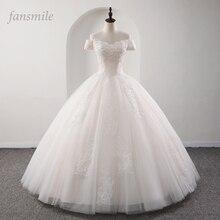 Fansmile 2020 Robe De Mariage prenses beyaz balo gelinlik Vestido De Noiva artı boyutu özel gelinlikler FSM 564F