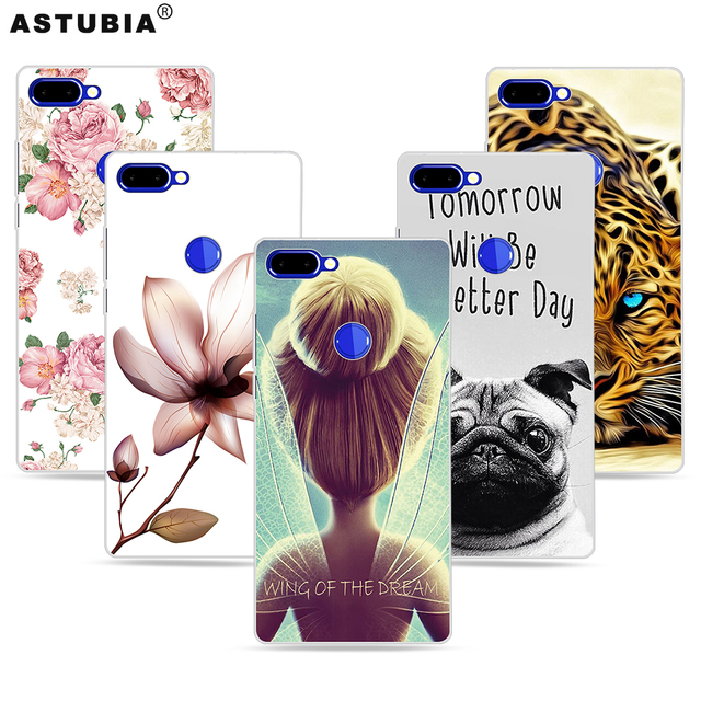 ASTUBIA Case For Vernee Mix 2 Case Cover For Vernee Mix 2 4gb 64gb Case Wings Girl Pattern DIY Name Coque For Vernee Mix2 6 Case
