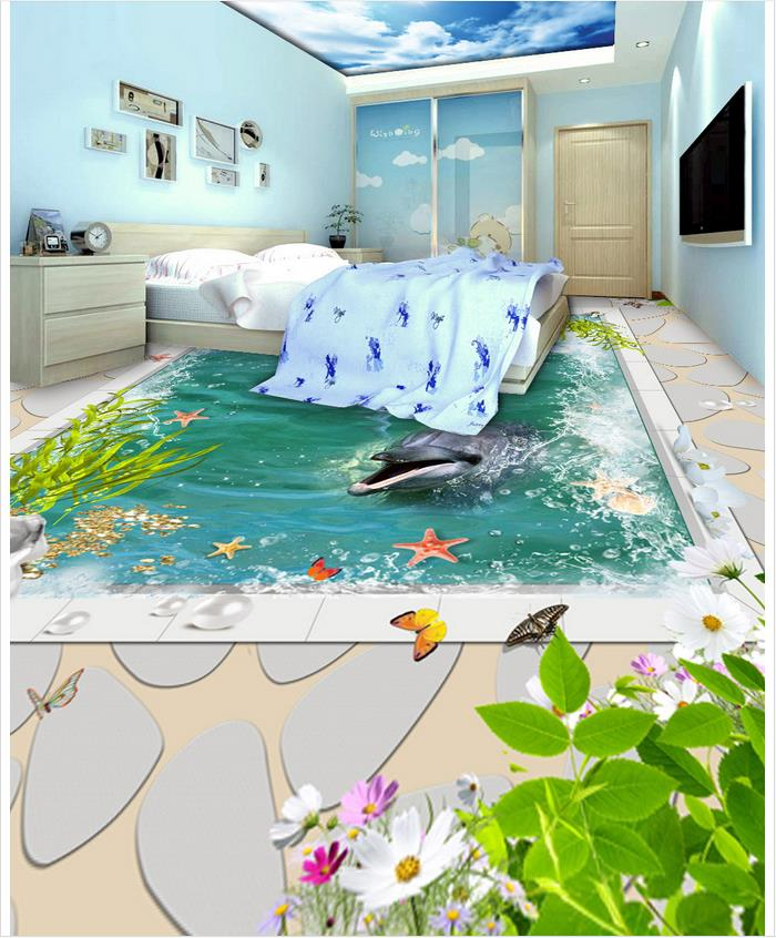 3d wallpaper 3d floor murals pvc white marble floor for 3d wallpaper waterproof