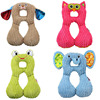 1 4 Years Baby Stroller Accessories Pillow Cushion Pad Baby Neck Cartoon Pillow U Shaped Travel