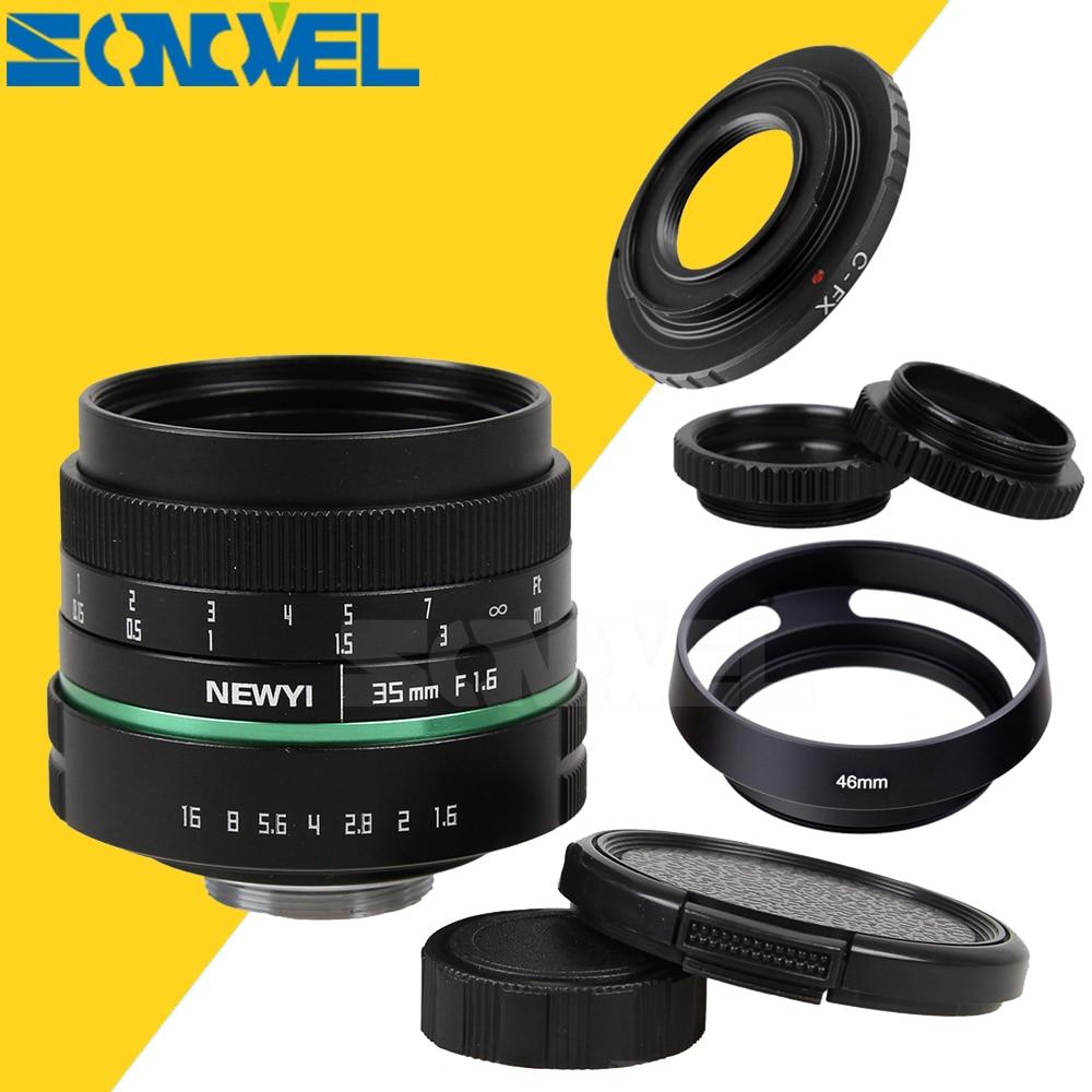 Ultra Clear 35mm f1.6 APS-C CCTV TV Movie Lens II+C Mount for Fujifilm FX Camera X-T10 X-T2 X-PRO2 X-PRO1 X-E2 X-E1 X-M1 X-A3 35mm f 1 6 c mount lens for aps c sensor sony e nex 7 nex6 nex5t 5r 3 a5100 a6000 a5000 a3000 a6300 a6500