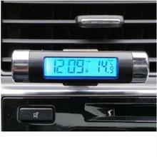 Новые высококачественные ЖК-клипса Синяя подсветка цифровой автомобильный термометр автомобильные часы календарь диагностические инструменты