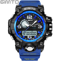 GIMTO Brand Digital Sport Watch Waterproof Men Military Watches Diving LED Wristwatch Male Clock Relogio Masculino
