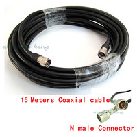 15 Meters Black 50ohm 50 5 Ultra Low Loss Coaxial Cable For Connecting Cell Phone Signal