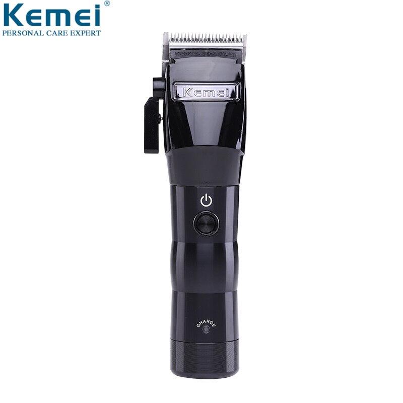 を Kemei プロフェッショナルバリカン電気強力なコードレス切断機散髪トリマー理髪新  グループ上の 家電製品 からの ヘアトリマー の中 1