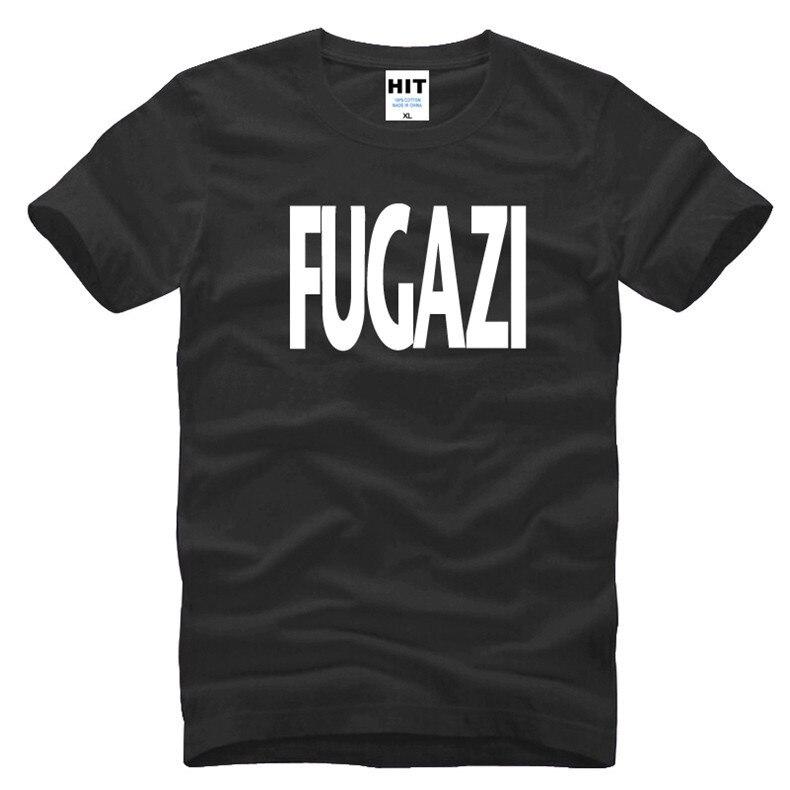American Hardcore Punk Band zene Fugazi levél nyomtatott férfi férfi póló póló 2016 új rövid ujjú O nyak alkalmi póló póló