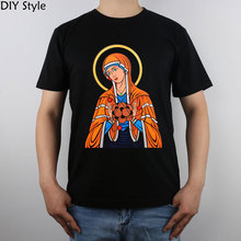 Madonna Virgin Bosom Atomic Physics Science Madonna Of The Particle t-shirt Top Pure Cotton Men T Shirt